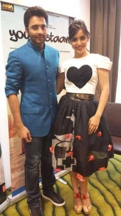 Jackky Bhagnani and Neha Sharma promote Youngistaan in Dubai