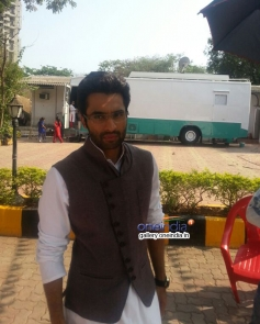 Jackky Bhagnani on the sets of tv serial Nandini