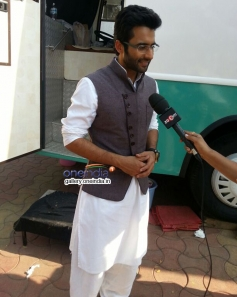 Jackky Bhagnani promote Youngistaan on the sets of Sony tv serial Nandini
