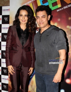Kangna Ranaut and Aamir Khan at Queen film special screening