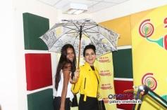 Kangna Ranaut and Lisa Haydon at Radio Mirchi Mumbai