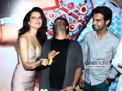 Kangna Ranaut, Vikas Bahl and Rajkummar Rao at Queen film success bash