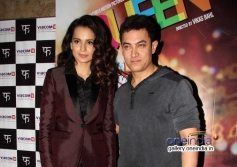 Kangna Ranaut with Aamir Khan at Queen film special screening