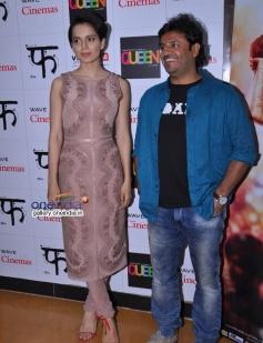 Kangna Ranaut with Vikas Bahl visits Wave Cinemas in New Delhi