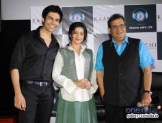 Kartik Aaryan, Mishti and Subhash Ghai at trailer launch of film Kaanchi