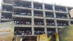 Fans gathering outside at Kochadaiyaan Audio Launch