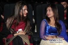 Madhoo and Nazriya Nazim at Vaayai Moodi Pesavum audio launch