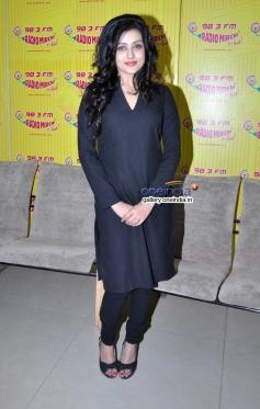 Mishti during her film Kaanchi promotion at Radio Mirchi