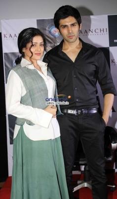 Mishti and Kartik Aaryan at trailer launch of film Kaanchi
