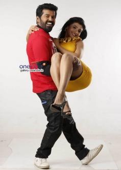Nagshekar and Roopashree in Kannada Movie Cigarette