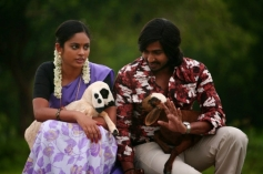 Nanditha and Vishnu Vishal still from Mundaasupatti
