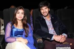 Nazriya Nazim and Dulquar Salman at Vaayai Moodi Pesavum audio launch