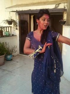 Neetu Chandra celebrates Holi 2014