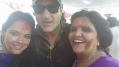 Neetu Chandra celebrates Holi  with Armaan