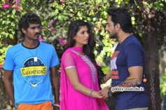 Neha Saxena, Karthik Jayaram in Kannada Movie Just Love