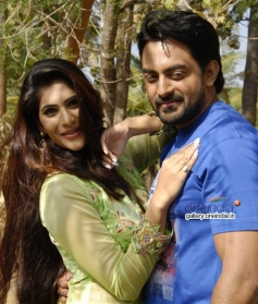 Neha Saxena and Karthik Jayaram in Kannada Movie Just Love
