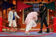 Nikitin Dheer celebrates Holi on the sets of Comedy Nights with Kapil