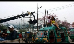 Parineeti Chopra and Aditya Roy Kapoor on the sets of film Daawat E Ishq song shoot