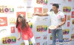 Payal and Sangram having fun at Zoom Holi Party 2014