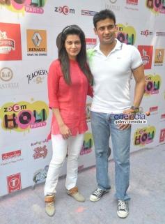 Payal and Sangram Singh at Zoom Holi Party 2014