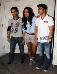 Pulkit Samrat, Sarah Jane Dias and Bilal Amrohi at O Teri film special screening