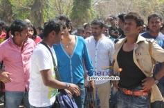 Pavan Wadeyar, Shivrajkumar, Puneeth Rajkumar at Rana Vikrama Movie Opening