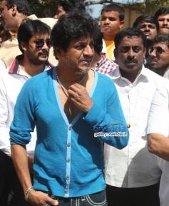 Shivrajkumar at Rana Vikrama Movie Opening