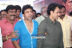 K Manju, Shivrajkumar, Raghavendra Rajkumar at Puneeth Rajkumar's Rana Vikrama Movie Opening