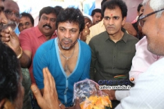 Shivrajkumar, Raghavendra Rajkumar at Puneeth Rajkumar's Rana Vikrama Movie Opening