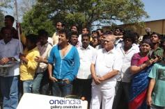 Shivrajkumar at Puneeth Rajkumar's Rana Vikrama Movie Opening