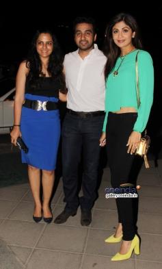 Raj Kundra with wife Shilpa Shetty snapped at Yauatcha restaurant