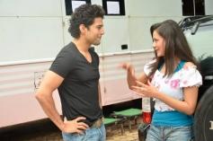 Rajeev Khandelwal and Madalasa Sharma on the sets of Samrat And Co