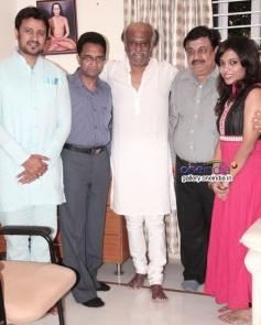 Rajinikanth blesses Raja and Amrita couple