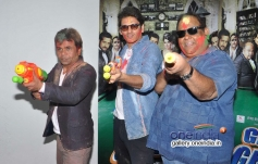 Rajpal Yadav and Satish Kaushik celebrates Holi at Mehboob Studio