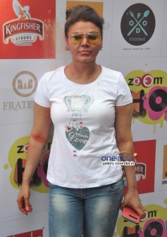 Rakhi Sawant at Zoom Holi Party 2014