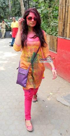 Richa Chadda at Shabana Azmi and Javed Akhtar's Holi celebration