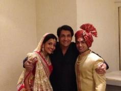 Ruslaan and Nirali with dance guru Shiamak Davar