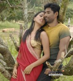 Sanjana Prakash and Guru in Kannada Movie Panganama