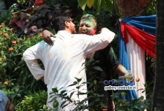 Sanjay Gupta's Holi celebration at his residence