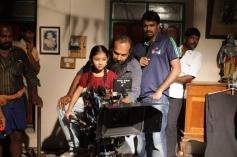 Sara Arjun and AL Vijay on the sets of Saivam