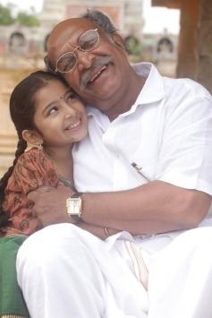Sara Arjun and Nassar still from Saivam