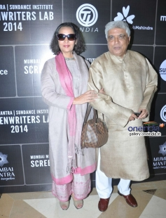 Shabana Azmi and Javed at Third annual Mumbai Mantra Sundance Institute Screenwriters Lab 2014