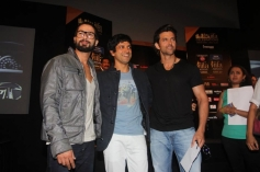 Shahid Kapoor, Farhan Akhtar and Hrithik Roshan at IIFA 2014 Press Conference