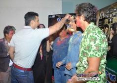 Sharman Joshi and Chunky Pandey celebrates Holi at Mehboob Studio