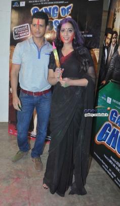 Sharman Joshi and Mahie Gill celebrates Holi at Mehboob Studio