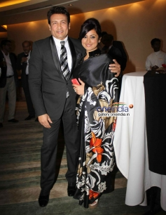 Shekhar and Divya Dutta at the first edition of Times Now ICICI bank NRI of the year awards ceremony