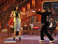 Shilpa Shetty and Upasana Singh on the sets of Comedy Nights with Kapil