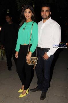 Shilpa Shetty with husband Raj Kundra snapped at Yauatcha restaurant