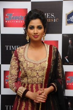 Shreya Ghoshal during the launch of her first ghazal album Humnasheen