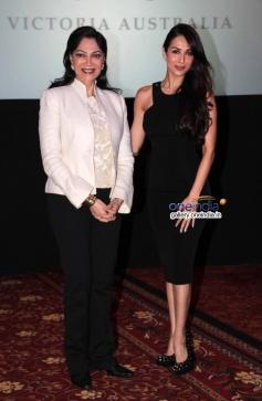Simi Garewal and Malaika Arora Khan at the press conference of Indian Film Festival of Melbourne